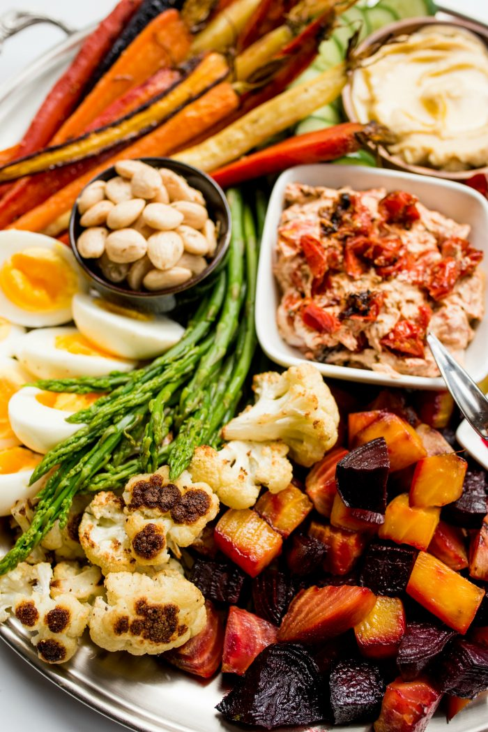 BEST Roasted Veggie Crudite Platter