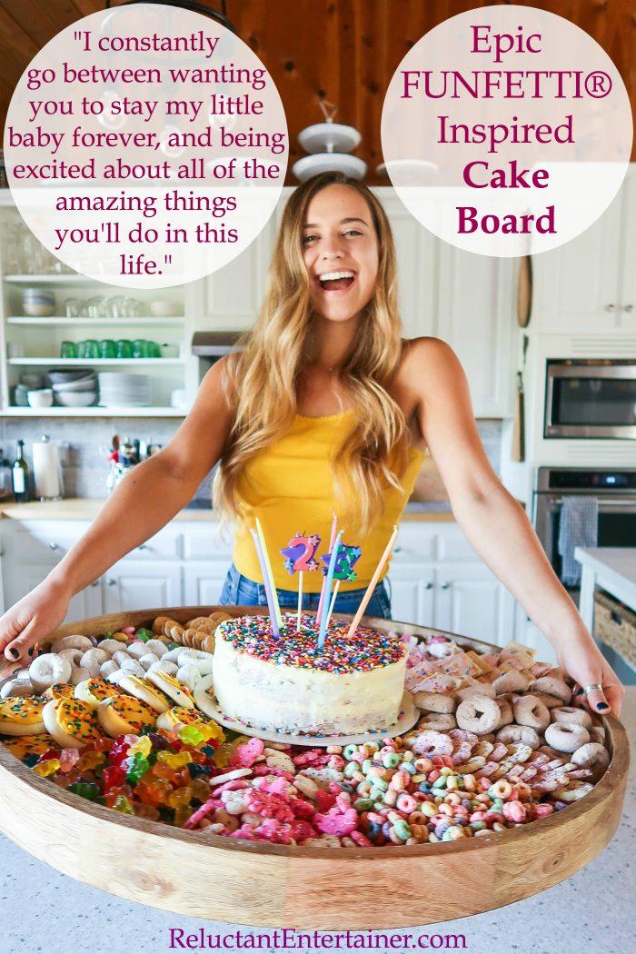 Epic FUNFETTI® Inspired Cake Birthday Board