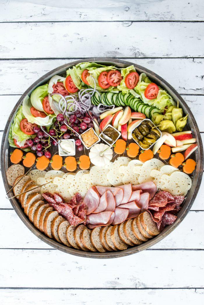 BEST Harvest Party Ham Sandwich Board