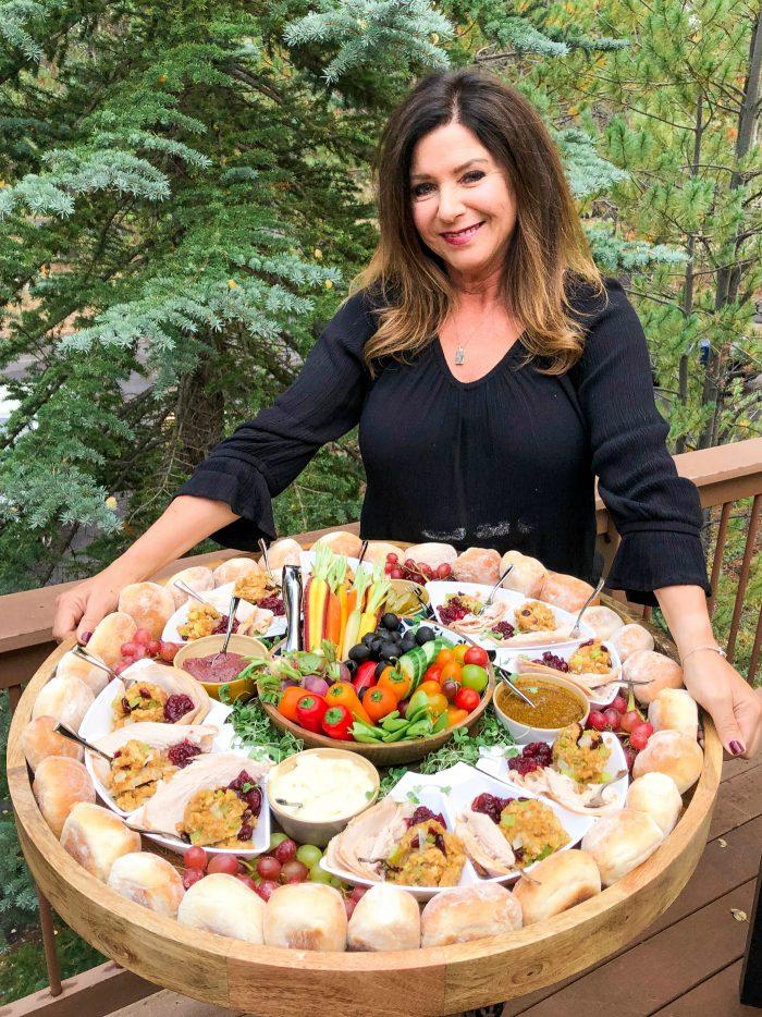 Easy Friendsgiving Turkey Sandwich Board