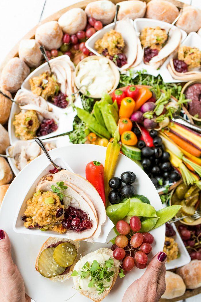 DIG IN Friendsgiving Turkey Sandwich Board