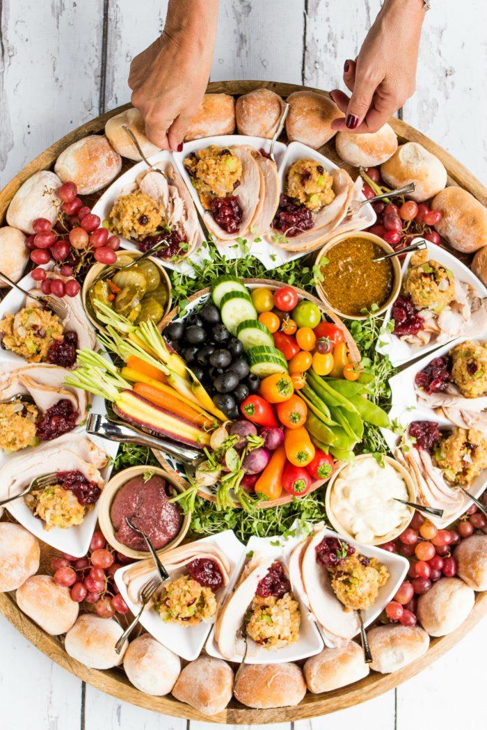 DIG IN Epic Friendsgiving Turkey Sandwich Board