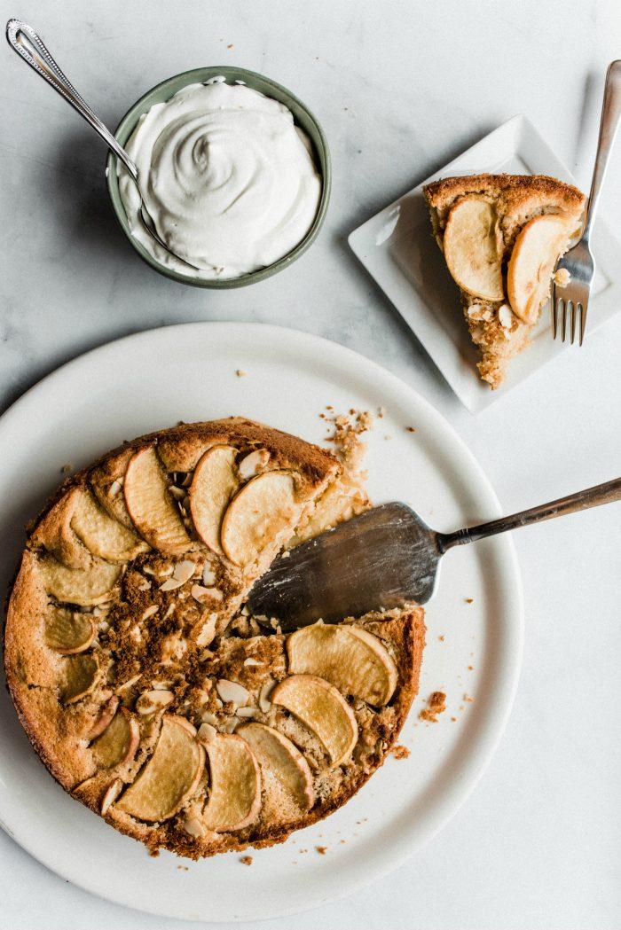 Holiday Spelt Cinnamon Apple Cake