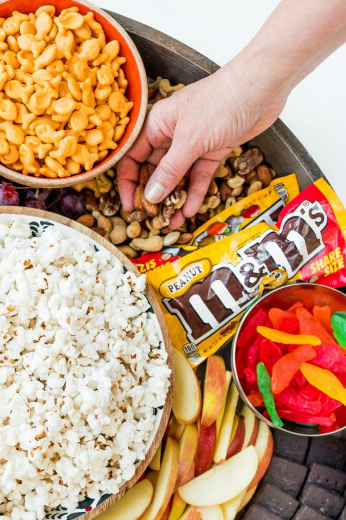 Family Movie Night Snack Board Reluctant Entertainer