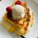 ice cream and Raspberry Nutella Tortilla Wrap