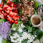 My Favorite Strawberry Spinach Salad with pecans