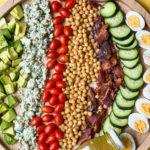 Chickpea Cobb Salad with honey mustard dressing